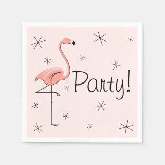 Flamingo Pink Party! paper napkins