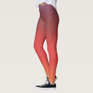 Flamingo Pink Purple Gradient Fade Leggings