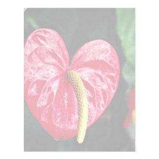 Flamingo plant  flowers personalized letterhead