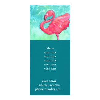 Flamingo Rackcard Rack Card Template