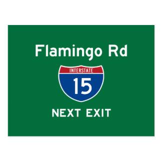 Flamingo Rd Postcard