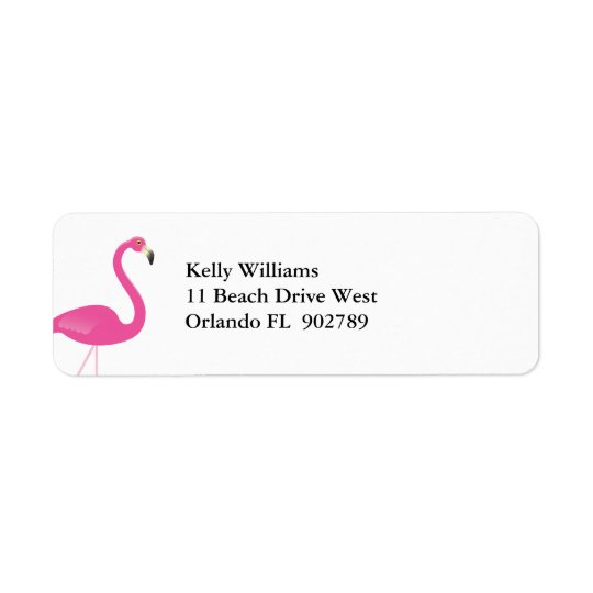 Flamingo Return Address Labels