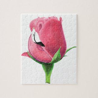 Flamingo Rose Jigsaw Puzzle