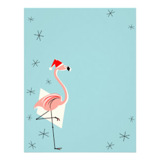 Flamingo Santa Blue letterhead