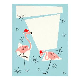 Flamingo Santas Blue letterhead