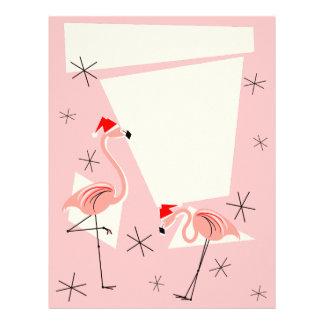 Flamingo Santas Pink letterhead