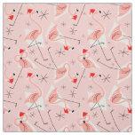 Flamingo Santas Pink Multi small pattern fabric