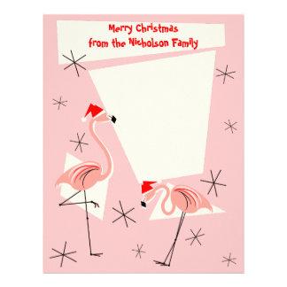 Flamingo Santas Pink Text letterhead