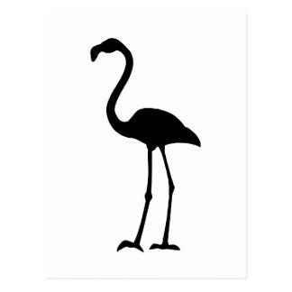 Flamingo Silhoutte Postcard