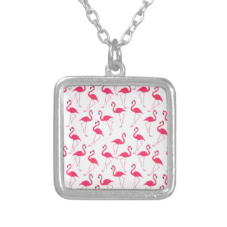 Flamingo Silver Plated Necklace