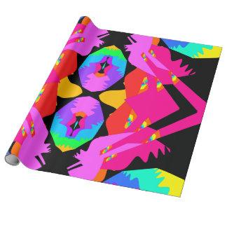 Flamingo Splash Fractal Gift Wrap