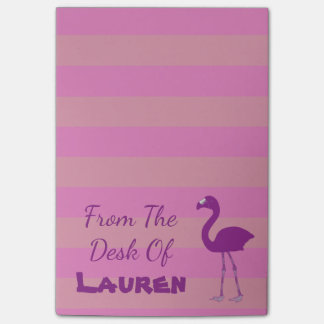 """Flamingo Sticky Note Pad """"From the Desk Of"""" Pink"""