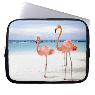 Flamingo Stroll Laptop Computer Sleeves