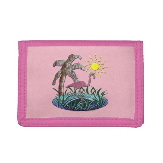Flamingo Sunny Days Trifold Wallets