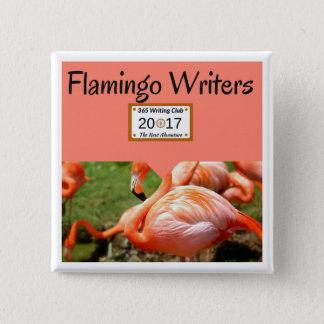 Flamingo Team Button! 2 Inch Square Button