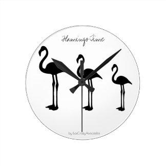 Flamingo Time Minimalistic Wall Clock