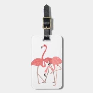 Flamingo Trio Luggage Tag