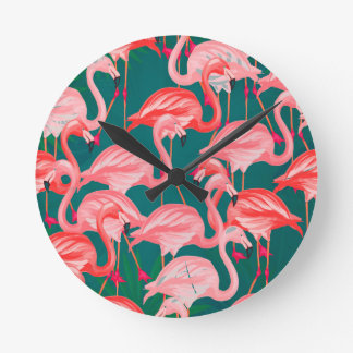 flamingo tropic wall clocks