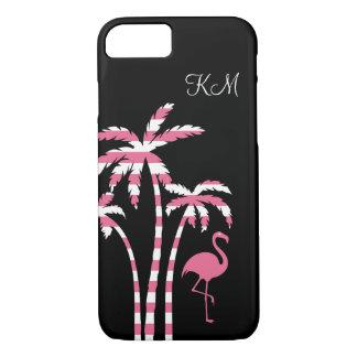 Flamingo Tropical Monogram iPhone 8/7 Case