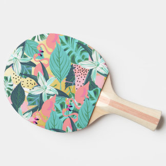 Flamingo Tropical Ping-Pong Paddle