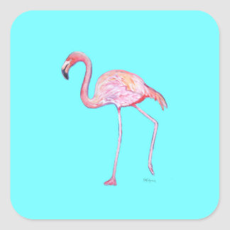 Flamingo turquoise blue sticker