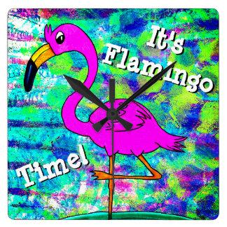 Flamingo Wall Clock It's Flamingo Time!