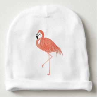 Flamingo Watercolor Baby Beanie