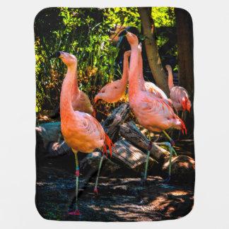 Flamingo Watercolor Baby Blanket