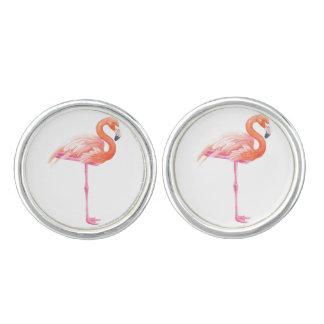 Flamingo watercolor cuff links