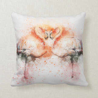 Flamingo Watercolour Cushion