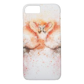 Flamingo Watercolour iPhone 7 Case