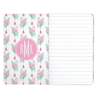 Flamingo & Watermelon Pastel Pattern Journal