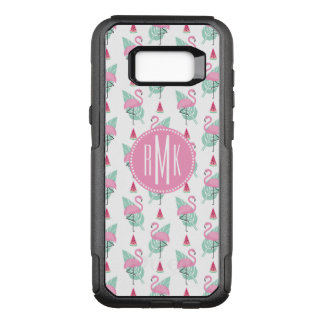 Flamingo & Watermelon Pastel Pattern OtterBox Commuter Samsung Galaxy S8+ Case