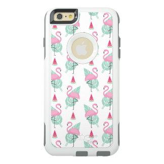 Flamingo & Watermelon Pastel Pattern OtterBox iPhone 6/6s Plus Case