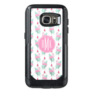 Flamingo & Watermelon Pastel Pattern OtterBox Samsung Galaxy S7 Case