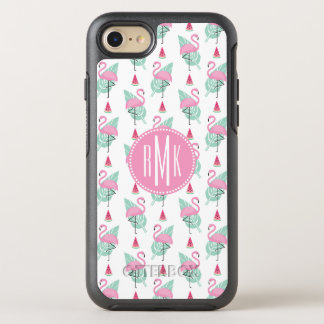 Flamingo & Watermelon Pastel Pattern OtterBox Symmetry iPhone 8/7 Case