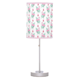 Flamingo & Watermelon Pastel Pattern Table Lamp