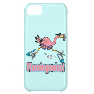 flamingocize jogging flamingo cartoon case for iPhone 5C