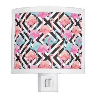 Flamingoes on Bold Design Pattern Nite Lites