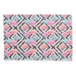 Flamingoes on Bold Design Pattern Pillowcase