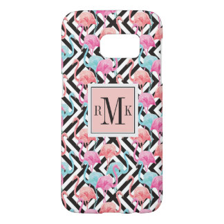 Flamingoes on Bold Design Pattern Samsung Galaxy S7 Case
