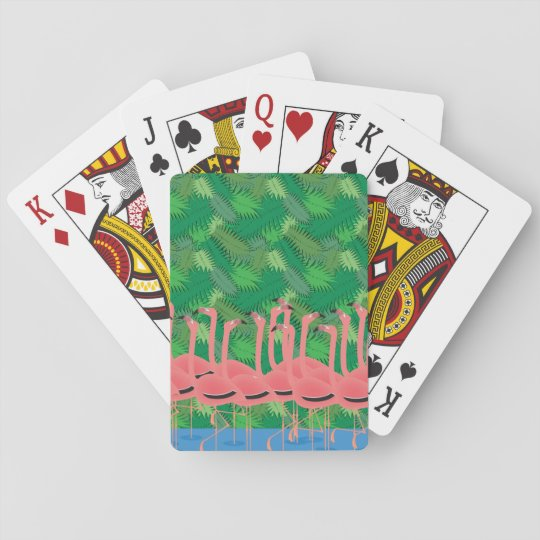Flamingoes on Parade Playing Cards