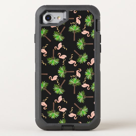 Flamingos And Palm Trees OtterBox Defender iPhone 7 Case