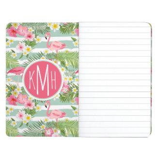 Flamingos And Stripes | Monogram Journals