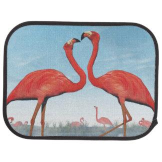 Flamingos courtship - 3D render Car Mat