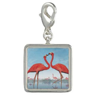 Flamingos courtship - 3D render Charm