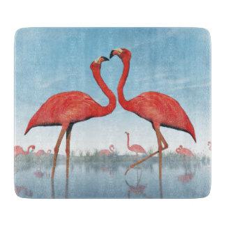 Flamingos courtship - 3D render Cutting Board