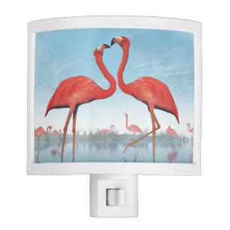 Flamingos courtship - 3D render Nite Light