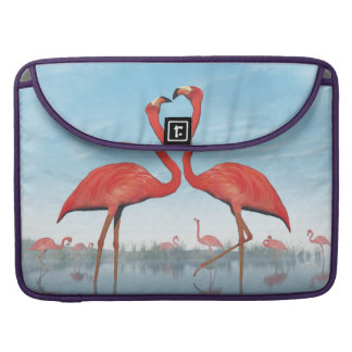 Flamingos courtship - 3D render Sleeve For MacBook Pro