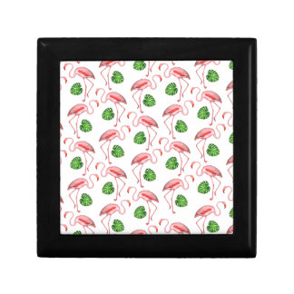 flamingos dance white gift box